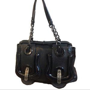 "Fendi ""B"" Bag Black Leather"